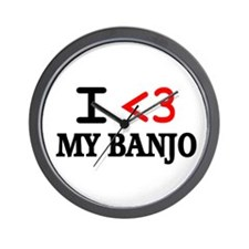 Cute Banjo player Wall Clock