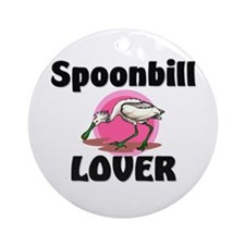 Spoonbill Lover Ornament (Round)