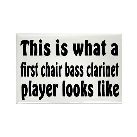 Bass Clarinet Rectangle Magnet (10 pack)