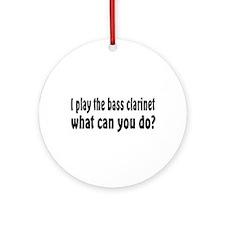 Bass Clarinet Ornament (Round)