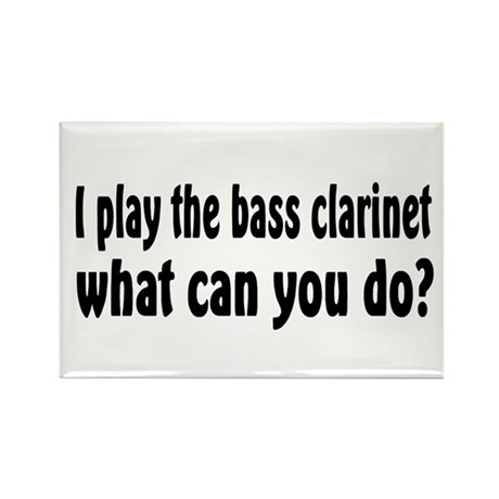 Bass Clarinet Rectangle Magnet (100 pack)