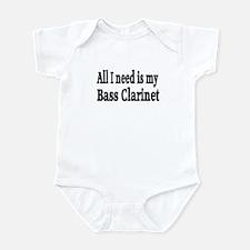 Cute Bass clarinet Infant Bodysuit