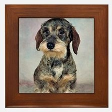 Wirehaired Dachshund Framed Tile