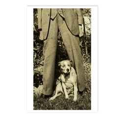 Tall Man, little dog on Postcards (Package of 8)