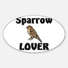 Sparrow Lover Oval Decal