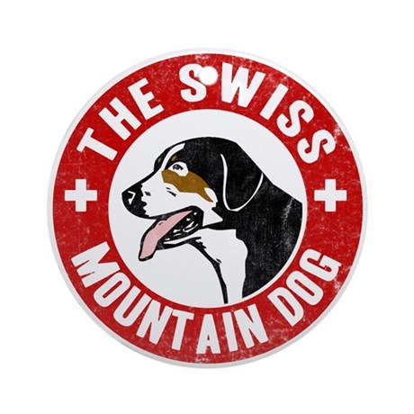 Swiss Mountain Dog Ornament (Round)