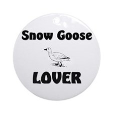 Snow Goose Lover Ornament (Round)