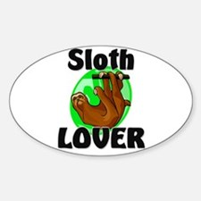 Sloth Lover Oval Decal