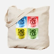 Chow Chow Pop Art Tote Bag