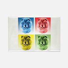 Chow Chow Pop Art Rectangle Magnet