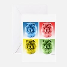 Chow Chow Pop Art Greeting Cards (Pk of 10)