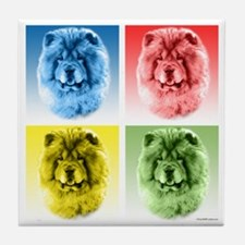 Chow Chow Pop Art Tile Coaster