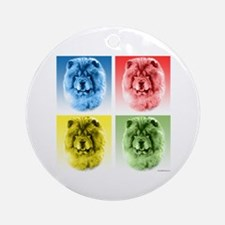 Chow Chow Pop Art Ornament (Round)