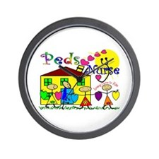 Cute Pediatric nurses Wall Clock