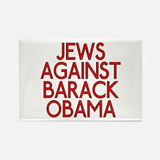 Jews against Barack Obama (rectangular magnet)