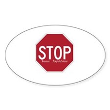 Stop Banana Republicans Oval Decal