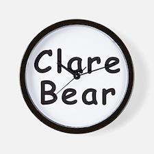 Clare Bear Wall Clock