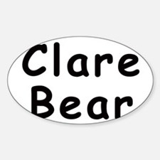 Clare Bear Oval Decal