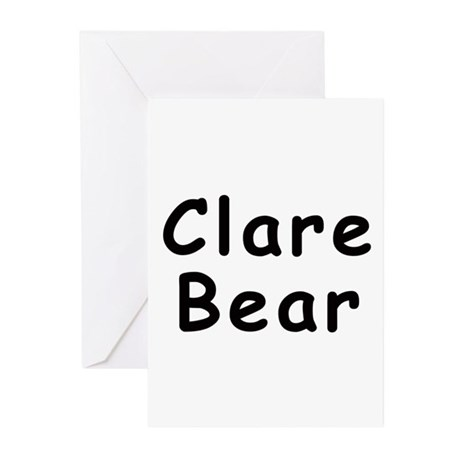 Clare Bear Greeting Cards (Pk of 10)