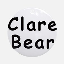 Clare Bear Keepsake (Round)