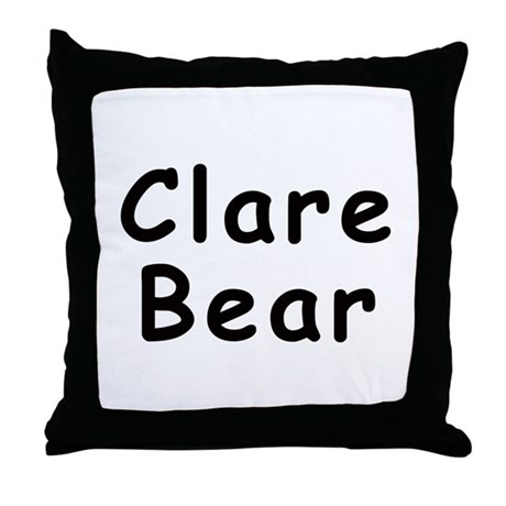 Clare Bear Throw Pillow