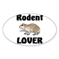 Rodent Lover Oval Sticker