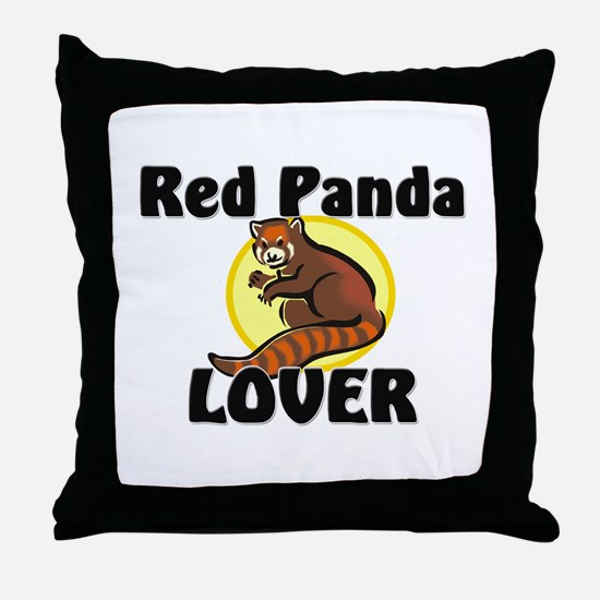 Red Panda Lover Throw Pillow