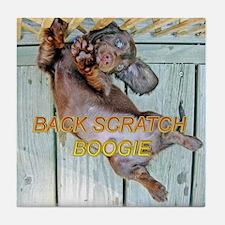 Back Scratch Boogie Tile Coaster