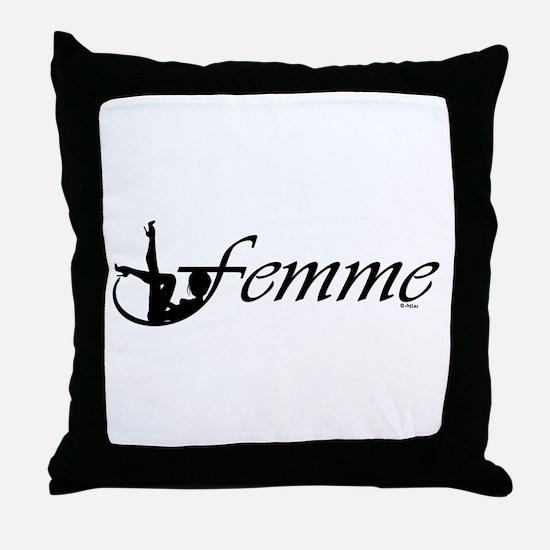 Femme 2b Throw Pillow