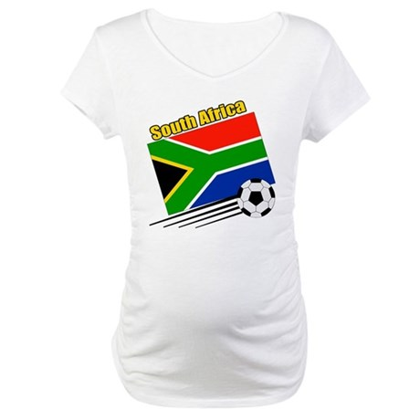 South Africa Soccer Team Maternity T-Shirt