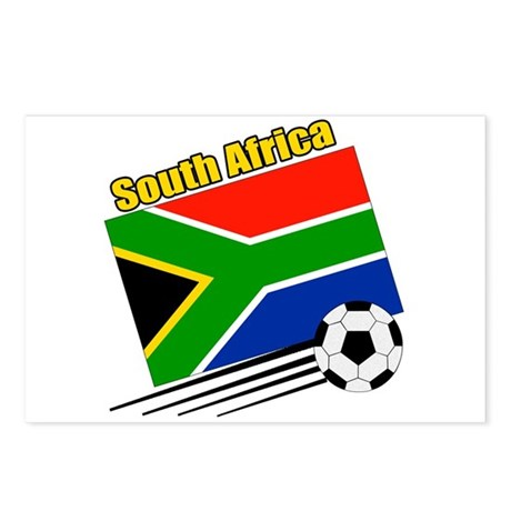 South Africa Soccer Team Postcards (Package of 8)