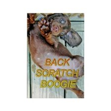 Back Scratch Boogie Rectangle Magnet