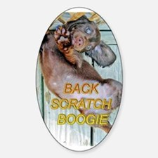 Back Scratch Boogie Oval Decal