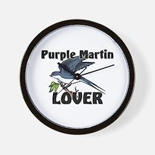 Purple Martin Lover Wall Clock