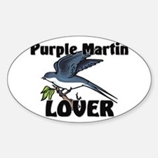 Purple Martin Lover Oval Decal