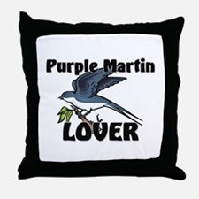 Purple Martin Lover Throw Pillow