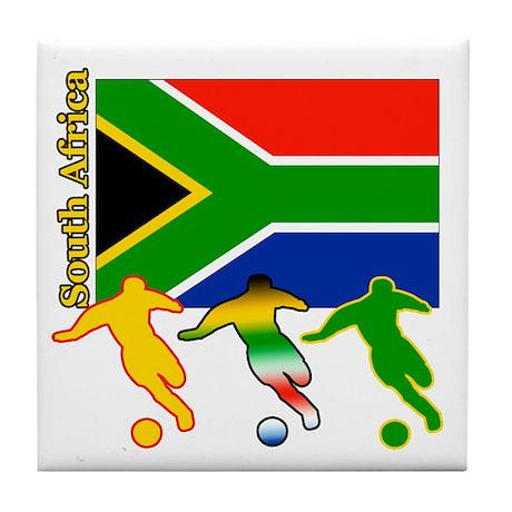 South Africa Soccer Tile Coaster