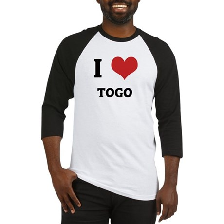 I Love Togo Baseball Jersey