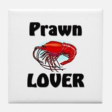 Prawn Lover Tile Coaster