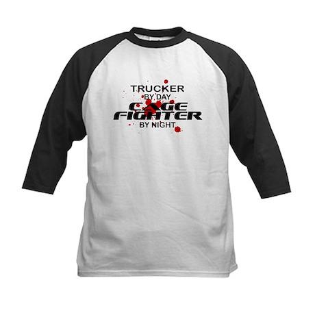 Trucker Cage Fighter by Night Kids Baseball Jersey