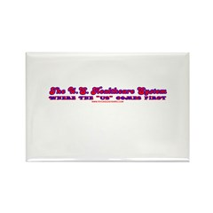US Healthcare Rectangle Magnet