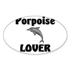 Porpoise Lover Oval Decal
