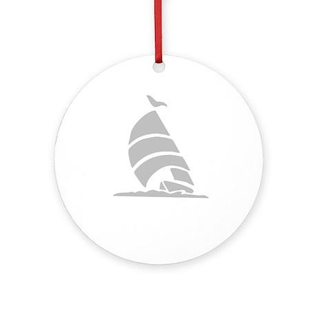Sailboat Silhouette Ornament (Round)