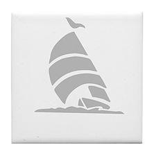 Sailboat Silhouette Tile Coaster