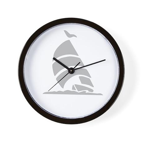 Sailboat Silhouette Wall Clock
