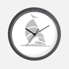 Sailboat Silhouette Wall Clock