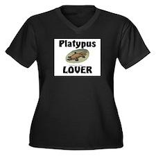 Platypus Lover Women's Plus Size V-Neck Dark T-Shi