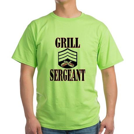Grill Sergeant Green T-Shirt