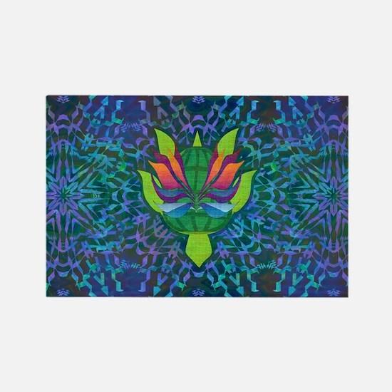 Flying Turtle Rectangle Magnet