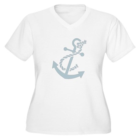 Nautical Anchor Women's Plus Size V-Neck T-Shirt